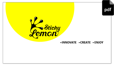 Sticky Lemon PDF Presentation